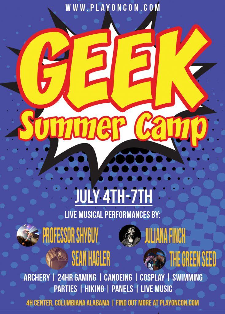 Geek Summer Camp, www.playoncon.com, July 4th-7th